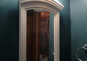 Bathroom Vanity – new mirror, lighting and paint