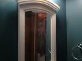 Bathroom Vanity – powder room redo with new floor, sink, mirror, lighting and paint