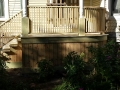 Rebuild porch deck, railing and stairs on Victorian Home
