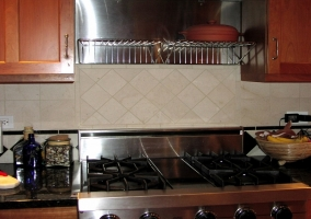 Replaced tile backsplash