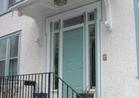 Doorway exterior painting and trim