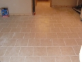 New basement tile floor