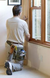 Installing molding around windows